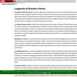Leggenda di Romolo e Remo - Okpedia