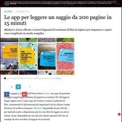 Le app per leggere un saggio da 200 pagine in 15 minuti