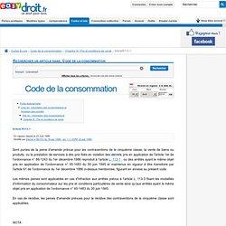 article R*113-1 du Code de la consommation - LEGIARTI000006292852