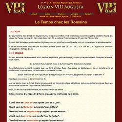 LEGION VIII AUGUSTA: Le temps chez les romains