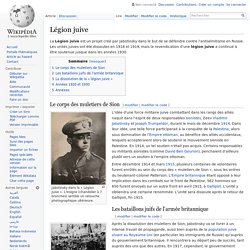 1914 crée la Légion juive en Ukraine