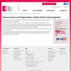 HAUT CONSEIL DE LA SANTE PUBLIQUE 11/07/13 Survenue de cas de légionellose. Guide d'aide à l'investigation