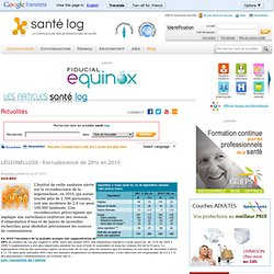 SANTELOG 19/07/11 LÉGIONELLOSE: Recrudescence de 28% en 2010$