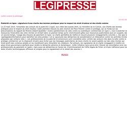 Publicité en ligne : signature d'une charte des bonnes pratiques pour le respect du droit d'auteur et des droits voisins