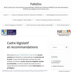 PaReDoc- Ressources pour le service sanitaire