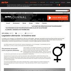 Legislation allemande : le troisième sexe