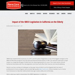 How the SB833 Legislation in California Affects Seniors