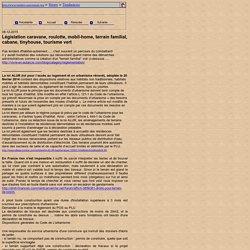 Législation caravane, roulotte, mobil-home, terrain familial