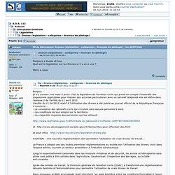 Drones (législation - catégories - licences de pilotage)