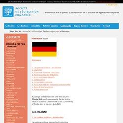 Site Web de la Société de Legislation Comparée : Allemagne