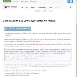 La législation des vélos électriques en France
