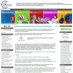 legislation emailing,legislation e mailing,loi internet fax mailing,b2b,b2c