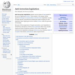 Anti-terrorism legislation