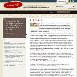 Législation européenne sur la protection des données en 2018