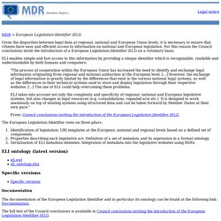 MDR - European Legislation Identifier (ELI) - Main page