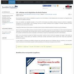 UE : réforme sur la législation du droit d'auteur - JURIDICONLINE