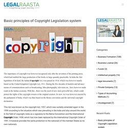 Basic principles of Copyright Legislation system