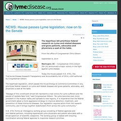 NEWS: House passes Lyme legislation; now on to the Senate