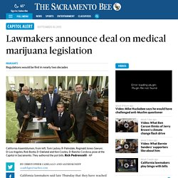 Lawmakers announce deal on medical marijuana legislation