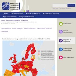 État des législations sur l'usage et la détention de cannabis au sein de l'UE des 28 - 16.03.2016
