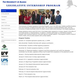 Legislative Internship Program at University of Alaska Southeast