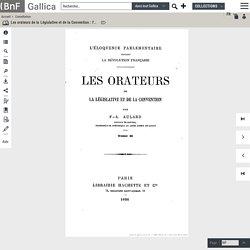 T2/2.- Les orateurs de la Législative et de la Convention : l'éloquence parlementaire pendant la Révolution française./ par F.-A. Aulard,...