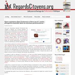 Open Legislative Data Conference à Paris les 6-7 Juillet : plongeons ensemble dans les données parlementaires !
