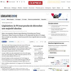 Législatives: le PS tout proche de décrocher une majorité absolue