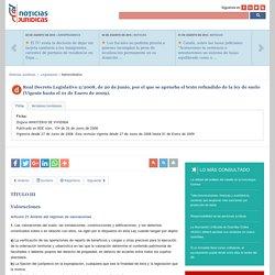 Real Decreto Legislativo 2/2008, de 20 de junio, por el que se aprueba el texto refundido de la ley de suelo. TÍTULO III.Valoraciones (Vigente hasta el 01 de Enero de 2009).