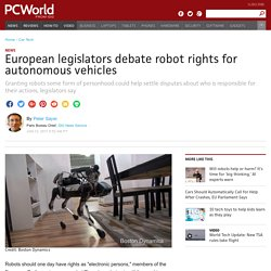 EU Legislators Debate 'Legal Personhood' for Robots