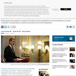 """XIV Legislatura: Felipe VI: """"España no puede ser de unos contra otros"""""""
