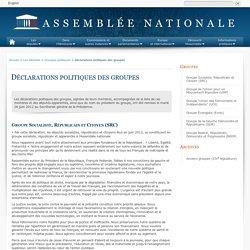 Les groupes de la XIVe législature - Assemblée nationale