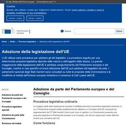 Adozione della legislazione dell'UE