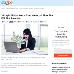 38 Legit Filipino Work from Home Job Sites That Won't Scam You