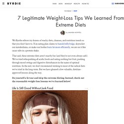 7 Legitimate Weight-Loss Tips We Learned From Extreme Diets
