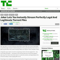 Joker Lets You Instantly Stream Perfectly Legal And Legitimate Torrent Files