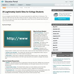 25 Legitimately Useful Sites for College Students