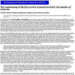 The Legitimising of His/Her-stories in Hanif Kureishi's The Buddha of Suburbia