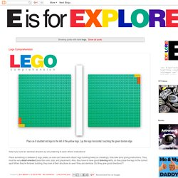 E is for Explore!: lego