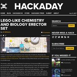 Lego-Like Chemistry and Biology Erector Set