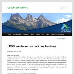 LEGO en classe : au delà des fractions
