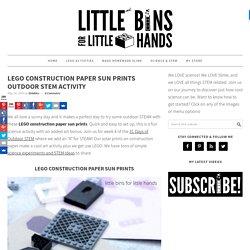 LEGO Construction Paper Sun Prints for Kids