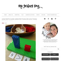Lego Math Game {Greater Than or Less Than}