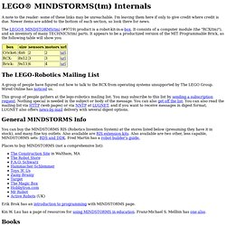 LEGO MINDSTORMS Internals
