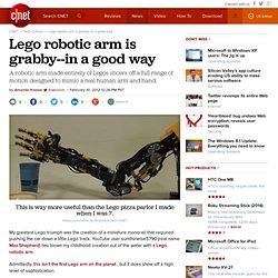 Lego robotic arm is grabby
