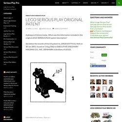 LEGO SERIOUS PLAY Original Patent