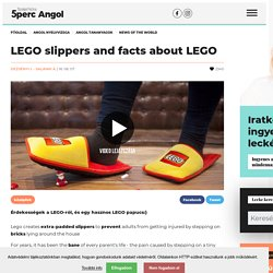 LEGO slippers and facts about LEGO