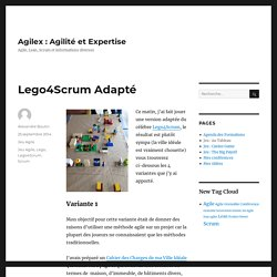 Lego4Scrum Adapté – Agilex : Agilité et Expertise