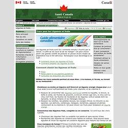 SANTE CANADA 20/03/13 Trucs pour les Légumes et fruits - Guide alimentaire canadien