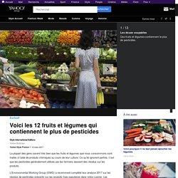 Voici les 12 fruits et légumes qui contiennent le plus de pesticides